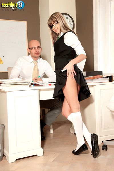 Schoolgirl gina gerson ass-hammering images with mentor