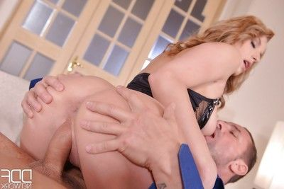 Euro pretty Victoria Daniels sports evil anal gape exactly after smoking David Perry