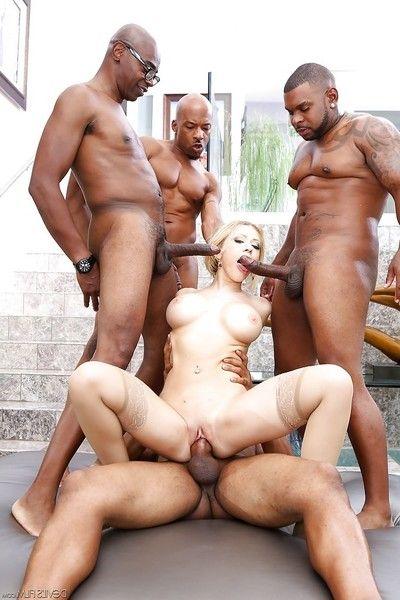 Kagney Lynn Karter love to smack mammoth brown schlongs in her holes