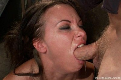 Wild girl obtains fixed firmly up, punished and screwed by group of chaps