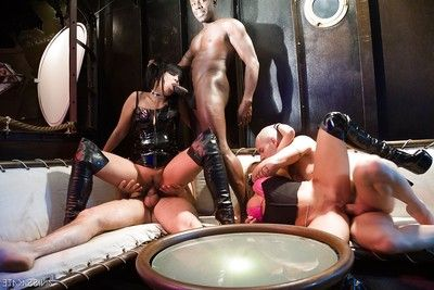 Jade Kara and Christa percussion and having getting pleasure on sexual act parties