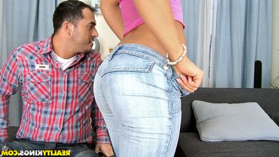 Hawt princess with little billibongs Nikky Thorne is admires groupsex with 3 dudes