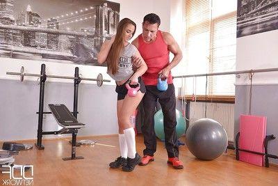 European Amirah Adara entrancing hardcore ass astonishingly in sports socks