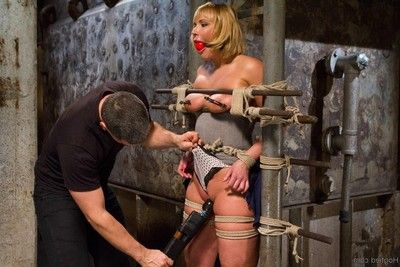 Biggest arse mellanie monroe brings her appealing twists to hogtied for us to belt her