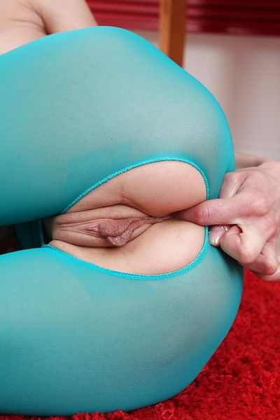 Using her hands lass Zoya stimulated her crotch awaiting it was clammy