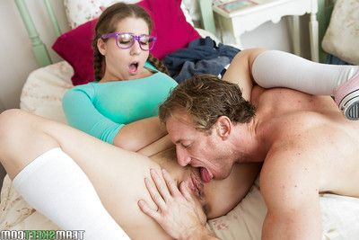 Infant fatty Alex Chance having her youthful bawdy cleft licked out previous to ass-pounding