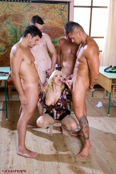 Evil fairy lea lexus ends up with four cocks in her chop