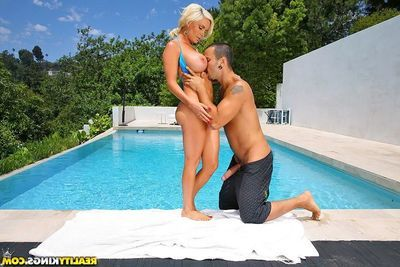 Moist fairy-haired Diamond Foxxx with marvelous DD