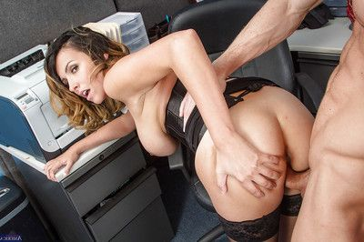 Milf Danica Dillon is astonishingly in her office in her trimmed gentile