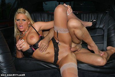 Rounded Phoenix Marie in sheer  has anal intercourse with her business husband in the limo