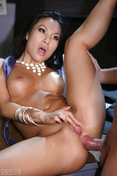 Fabulous Eastern chicito Asa Akira is being pounded in her anal crack slit