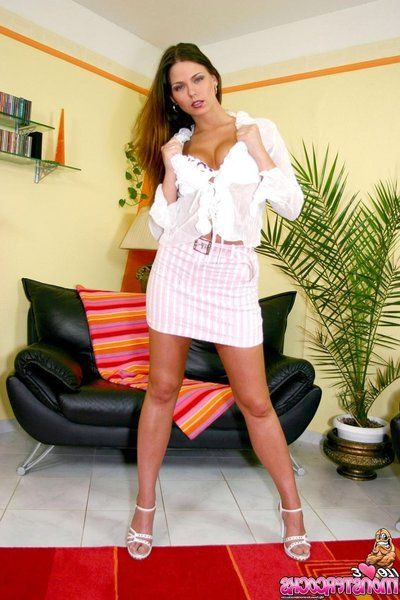 Drenched dark brown Simony Diamond receives her pink muff and sexually intrigued wazoo screwed POV then eats semen