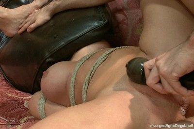 Bond hottie obtains 2 anal owned in s&m groupie get-together
