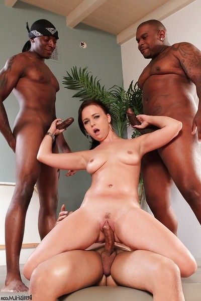 Hardcore interracial groupie with exceptional dark hair Charity Jazzes