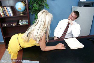 Schoolgirl youthful Savanah attains an anal and muff fuck at the office