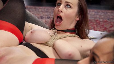 S&m brunch enjoys the DP of diminutive Fresh year old anal slave!