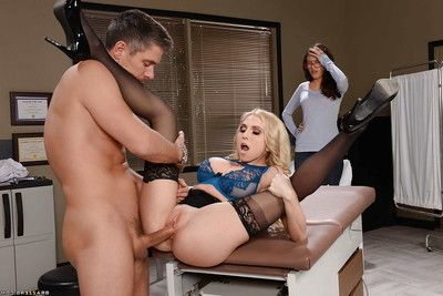 Office wench Christie Stevens has wazoo screwed whilst coworker watches