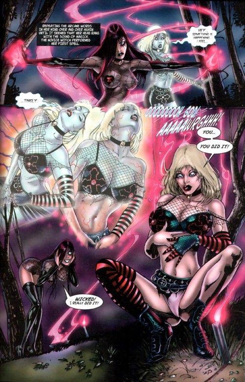 Nude comics with beautiful lesbian dolls