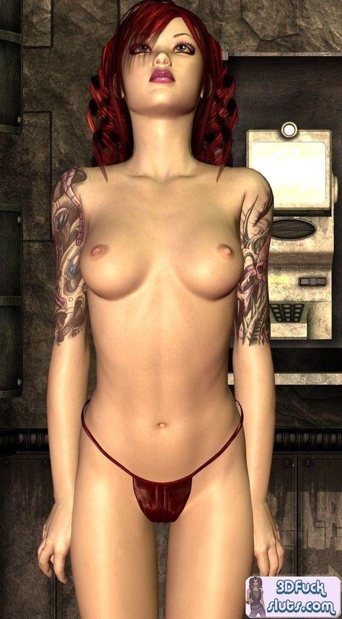3d toon redhead