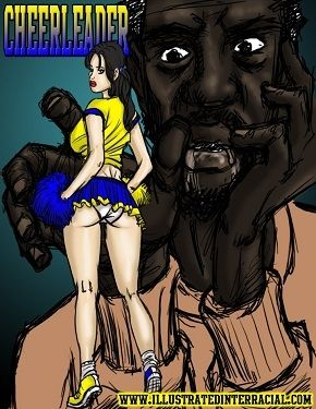 Cheerleaders- illustrated interracial