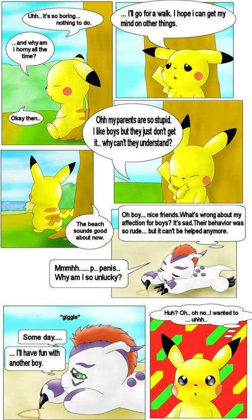 Pikachu and Gomamon (Digimon, Pokemon) [English]