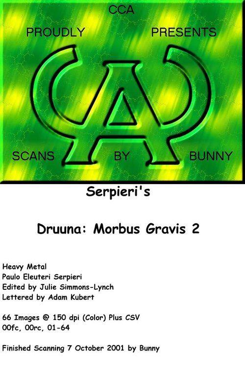 [Paolo Serpieri] Druuna 2 - Morbus Gravis 2 [English]