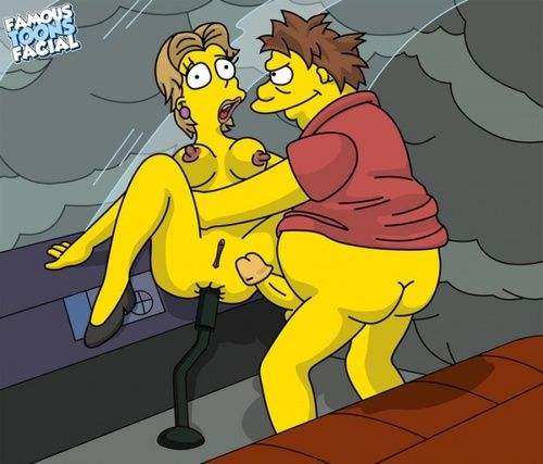 Simpsons - Argument Gumble fucks woman in the helicopter