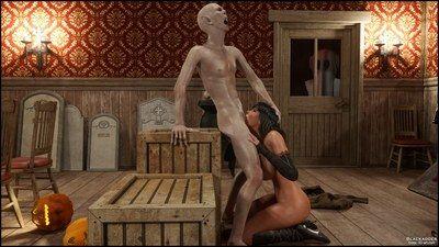 Blackadder- Halloween 2,3D sex - part 3