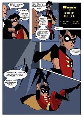Batman- Robin in Root of All Evil
