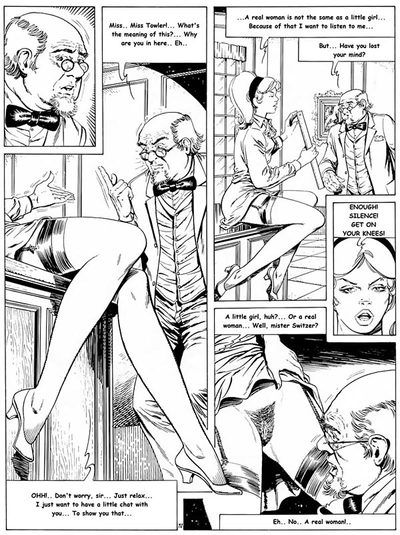 Blonde girl in awesome linegrie looks so hot in this comics
