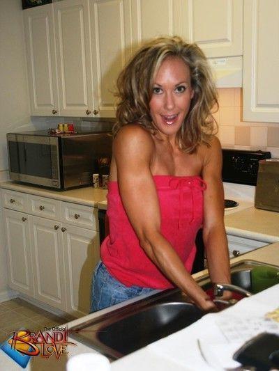 Brandi love pov kitchen blowjob