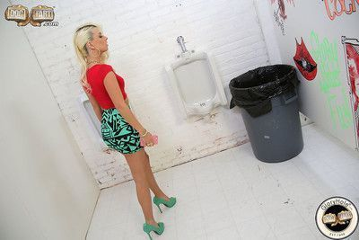 Jessie volt does sloppy blowjob in a gloryhole