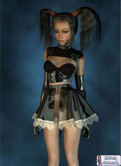Sexy 3d toon maid