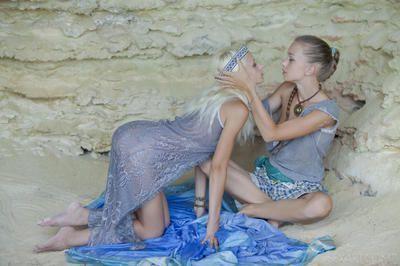 Hot ass lesbian teens Milena D, Nika N kissing & eating pussy at the beach