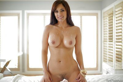 Hot wife Reena Sky displaying perfect MILF tits while banging massive cock