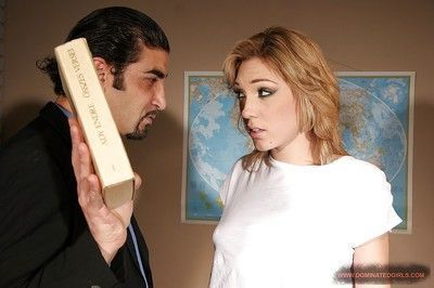 Submissive Lily LaBeau gets tortured and shagged by her teacher
