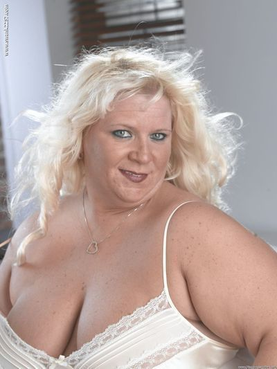 BBW Donna is showing off her inflexible vagina! The sexy blond with tremendous large tits has on her fancy sexy pants as this girl plays with her slit until this girl creams!