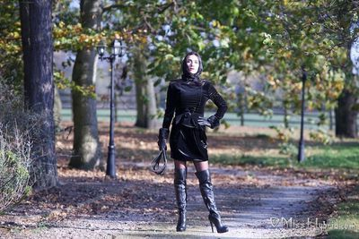 Miss Hybrid Sodden crack In Sodden Leather Boots Catwalk Outdoors