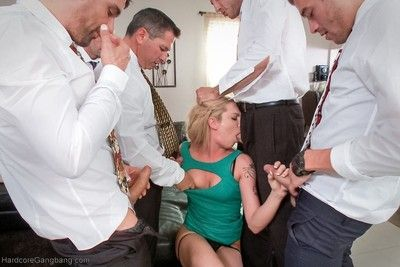 For the love of god - starring dahlia sky in her first gangbang ever!