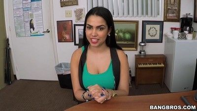 Ada sanchez banged and creamed at her porn casting
