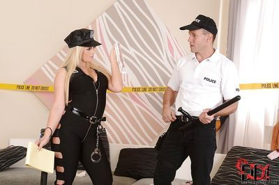 Gorgeous European blonde Bonnie Rose has anal sex with policeman