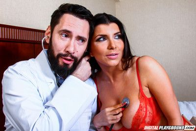 Romi rain gets wet pussy pounded hard by the family doctor