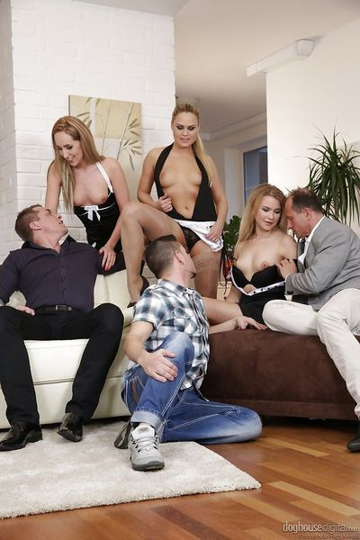 Swingers Jenny Simons- Barra Brass and Angel Diamonds suck cock and pussy