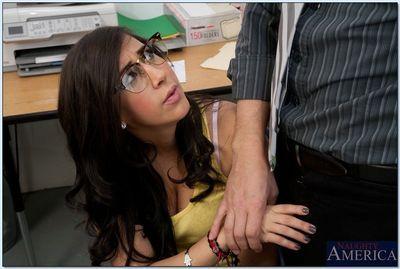 Naughty coed Valerie Kay sucks and fucks her teacher