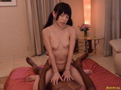Japanese bangs big black cock
