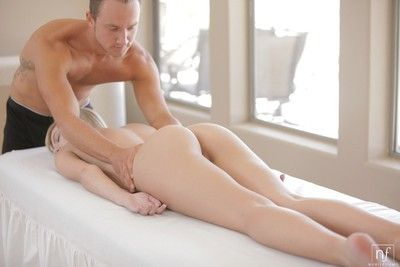 Chloe brooke gets fucked during a massage
