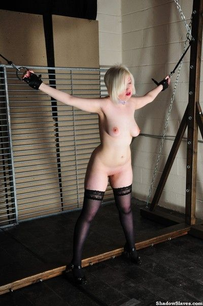 Blonde amateur slaves hell pain whipping and hardcore spanking of english spanke