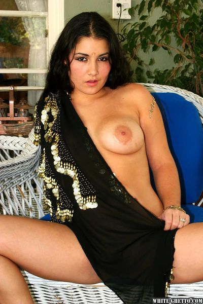 Big boobed Indian dripping cum from mouth after hardcore sex