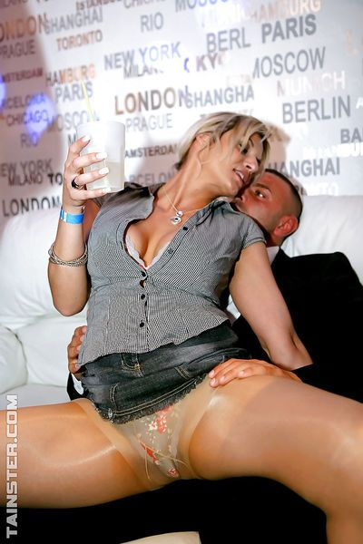 Letch MILFs enjoy pussy licking and cock sucking action at the drunk party