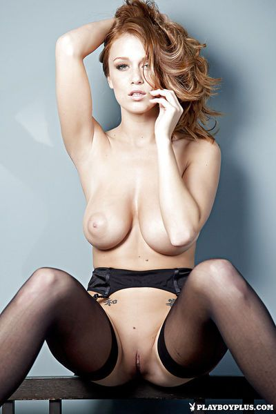 Playboy model Leanna Decker is getting naked like a hot chick